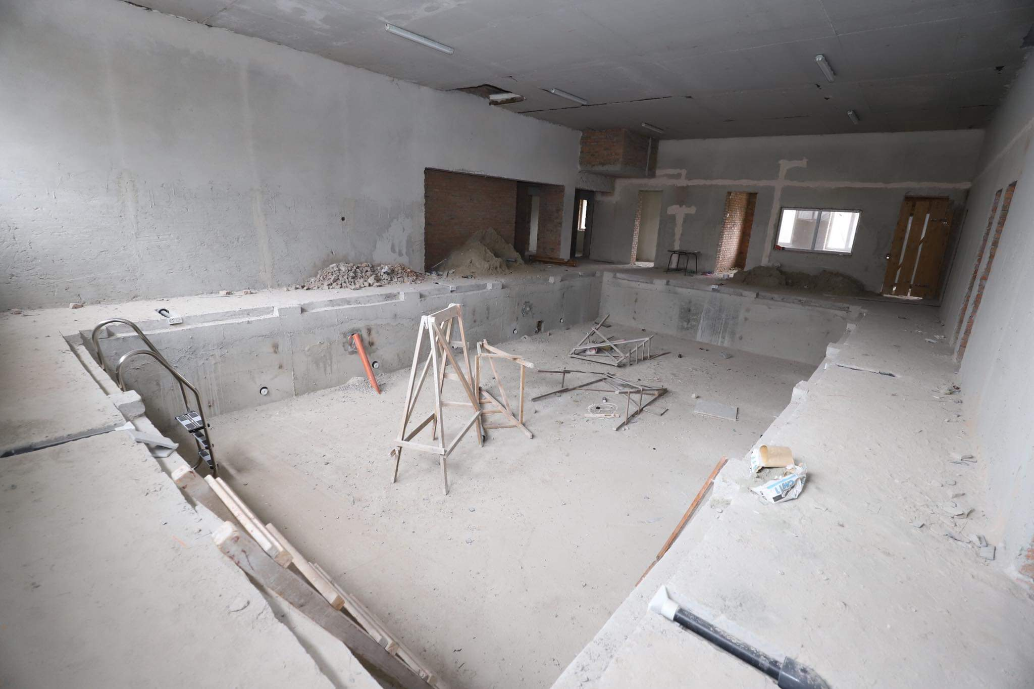 ремонт басейну у сокальській школі-інтернат