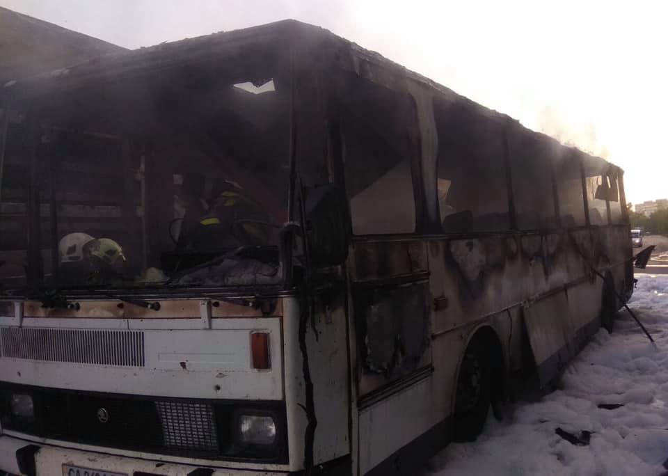 горів автобус в Червонограді