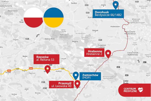 мапа щеплень на українсько-польському кордоні