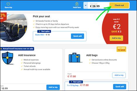 Оформлення багажу на Ryanair