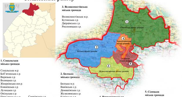 територіальні громади Сокальського району