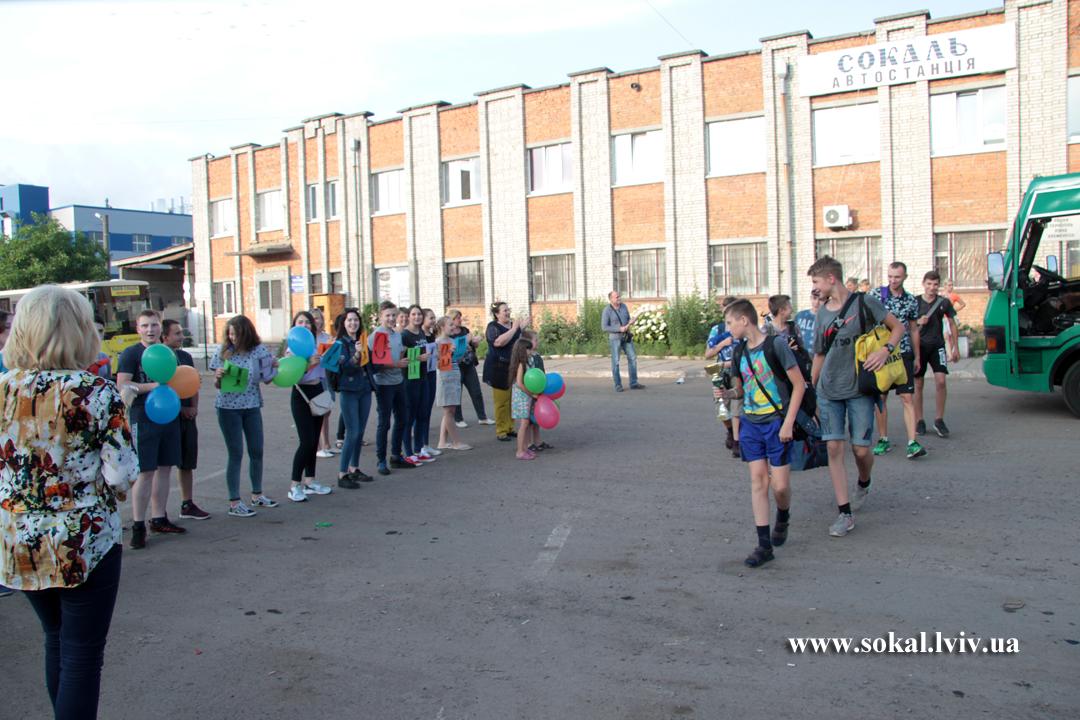 У Сокалі зустрічали чемпіонів України з волейболу