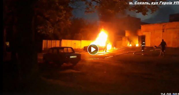 В Сокалі згорів автомобіль