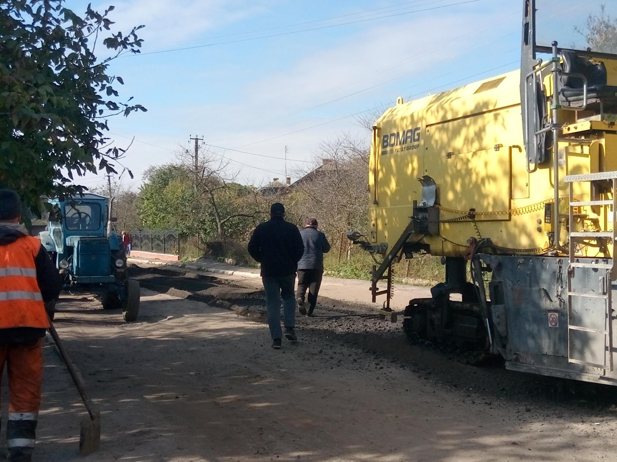 ремонт дороги в Перетоках